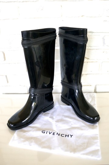 Givenchy Zipper Rubbers Slickers Rainboots black Boots