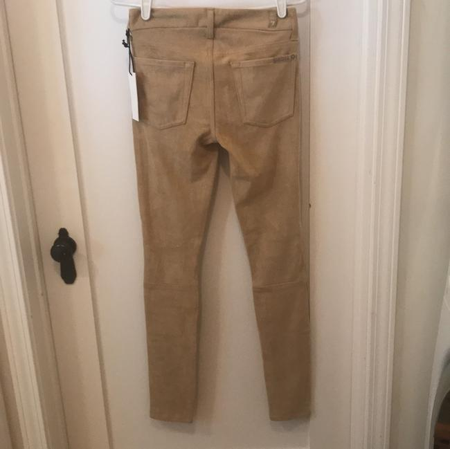7 For All Mankind Fake Suede Vegan Skinny Jeans