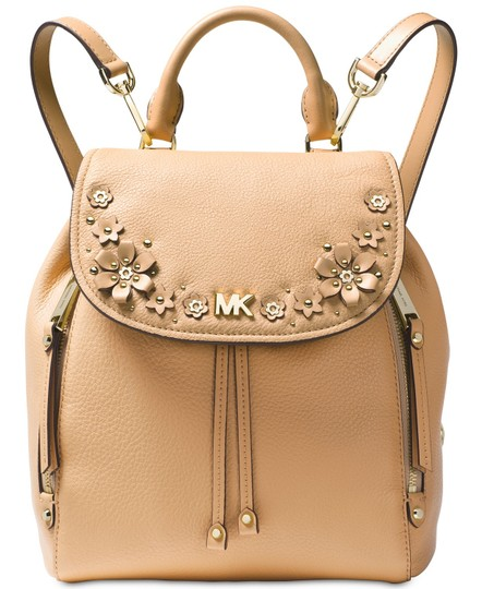 Preload https://img-static.tradesy.com/item/23926919/michael-kors-evie-small-flower-garden-butternut-gold-leather-backpack-0-0-540-540.jpg
