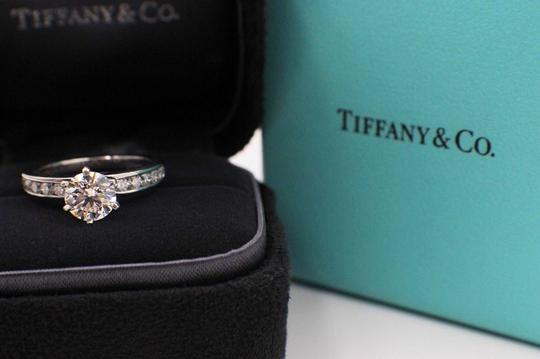 Tiffany & Co. F Round Brilliant Diamond 1.38 Tcw Diamond Band Engagement Ring Image 1