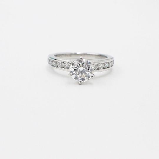 Tiffany & Co. F Round Brilliant Diamond 1.38 Tcw Diamond Band Engagement Ring Image 3