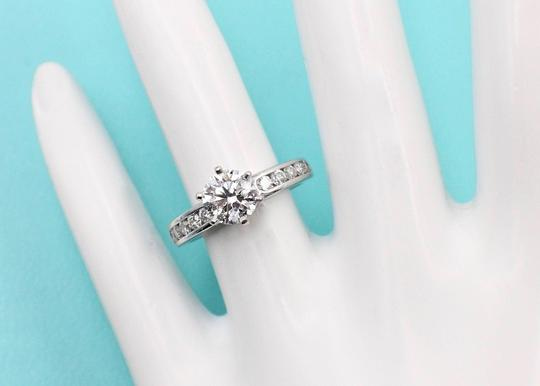 Tiffany & Co. F Round Brilliant Diamond 1.38 Tcw Diamond Band Engagement Ring Image 5