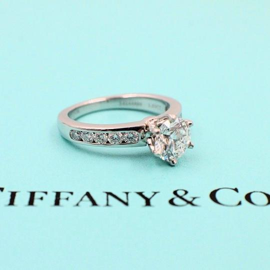 Tiffany & Co. F Round Brilliant Diamond 1.38 Tcw Diamond Band Engagement Ring Image 7