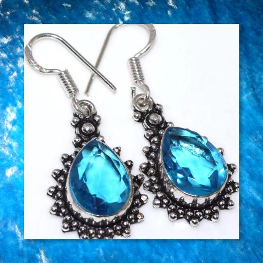 Other New Blue Topaz 925 Silver Earrings 17