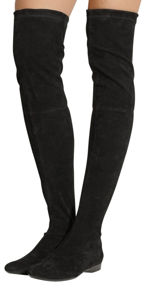 b2ae4671d84 Robert Clergerie Minimalist Suede Stretch Suede 8.5 black Boots Image 0 ...