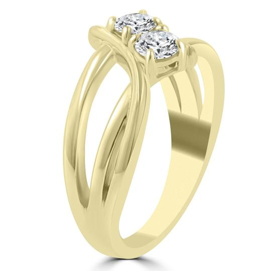 Madina Jewelry Yellow 0.50 Ct Ladies Round Cut Diamond Anniversary Ring Women's Wedding Band