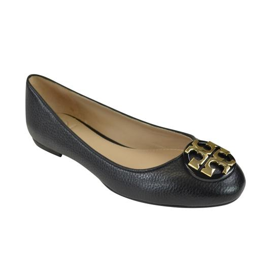 Tory Burch Ballet Slip On 7.5 Claire Black/ Gold Flats