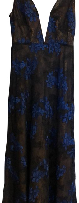 Preload https://img-static.tradesy.com/item/23927009/bcbgmaxazria-black-and-blue-lace-gown-long-formal-dress-size-4-s-0-1-650-650.jpg