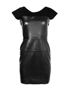 Gucci Leather Party Suede Sleeveless Dress
