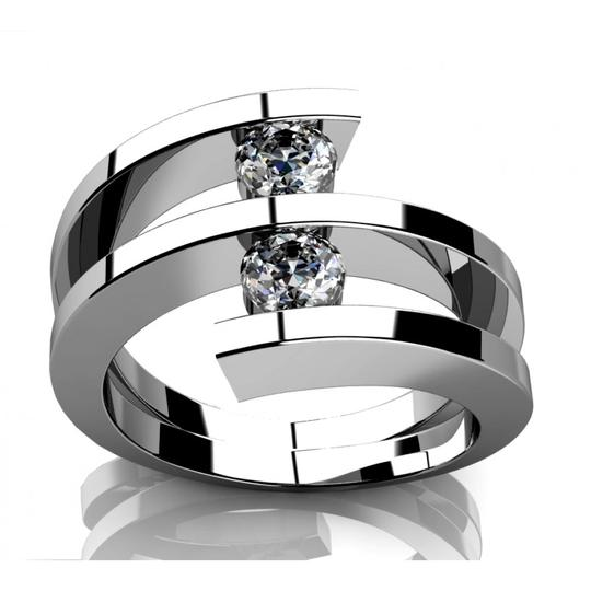 Preload https://img-static.tradesy.com/item/23927077/madina-jewelry-white-060-ct-two-round-cut-diamonds-anniversary-ring-available-in-any-size-women-s-we-0-0-540-540.jpg