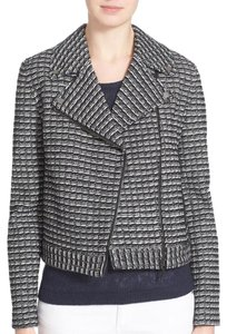 Tory Burch Motojacket Knitjacket Work Black/White Blazer