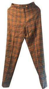 Burberry Straight Pants antique yellow check