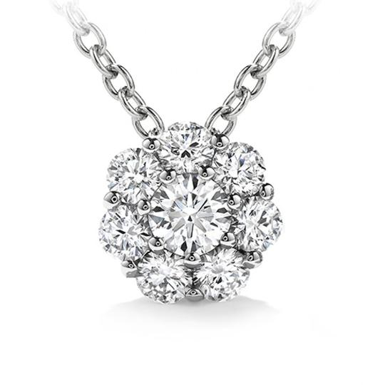 Madina Jewelry White 1.00 Ct Ladies Round Cut Diamond Pendant / In 14 Kt Gol Necklace Image 0