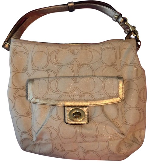 Preload https://img-static.tradesy.com/item/23927136/coach-c-monogram-purse-with-subtle-sparkle-cream-cotton-blend-hobo-bag-0-1-540-540.jpg