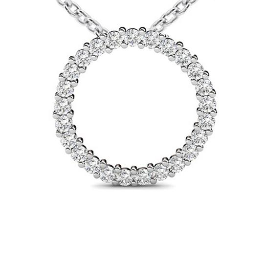 Preload https://img-static.tradesy.com/item/23927146/white-100-ct-ladies-round-cut-diamond-pendant-with-16-inch-chain-necklace-0-0-540-540.jpg