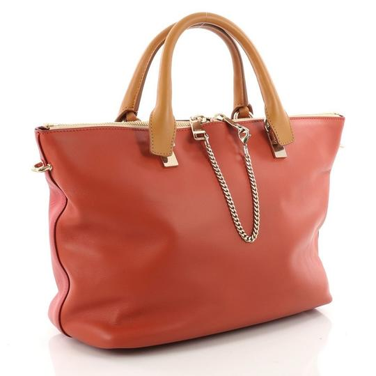 Chloé Leather Satchel in red, red-orange