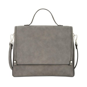 INC International Concepts Top Handle Faux Suede Multipocket Cross Body Bag