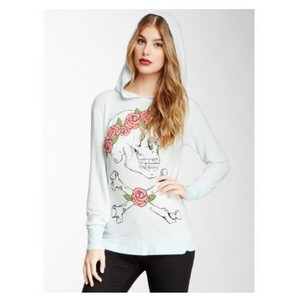Wildfox Deadhead Skull Flowercrown Sweatshirt