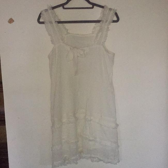 Mango short dress white on Tradesy