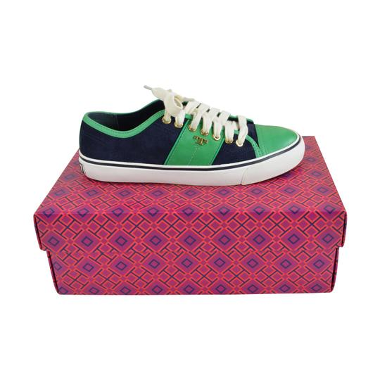 Preload https://img-static.tradesy.com/item/23927233/tory-burch-navy-green-churchill-leather-slip-on-sneakers-sneakers-size-us-6-regular-m-b-0-1-540-540.jpg