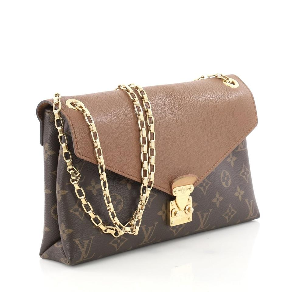 b42844331766 Louis Vuitton Pallas Monogram Chain Strap Cross Body Shoulder Bag Image 0  ...