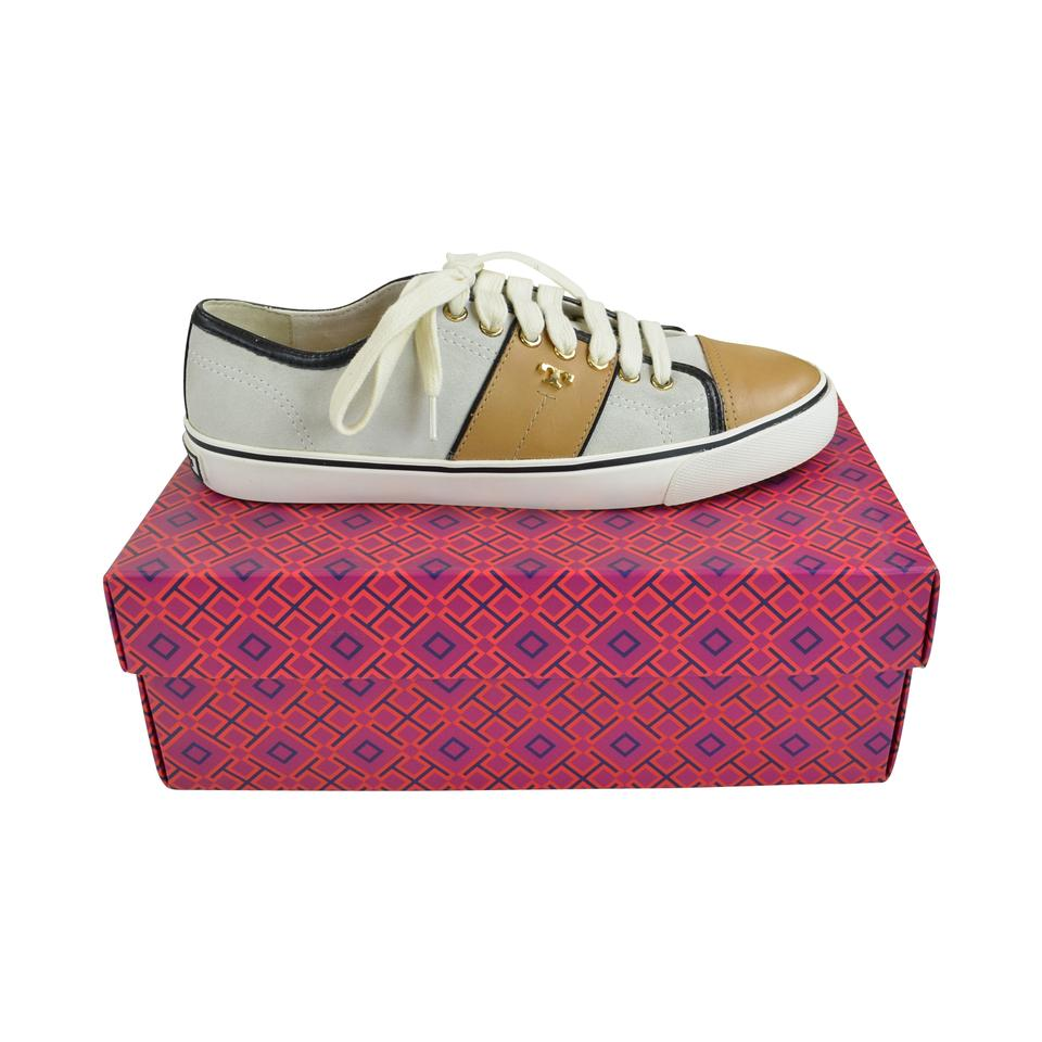 Tory Burch Ivory/ On Honey Wheat Churchill Leather Slip On Ivory/ Sneakers Sneakers 123302