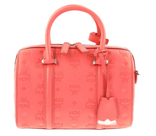 Preload https://img-static.tradesy.com/item/23927287/mcm-small-essential-boston-coral-red-leather-satchel-0-3-540-540.jpg
