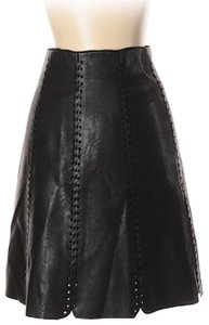 Club Monaco Faux Leather Leather Mini Mini Skirt Black