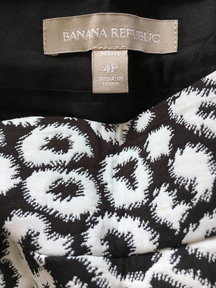 82811d42d Banana Republic Black and White Leopard Print Skirt Size Petite 4 (S ...