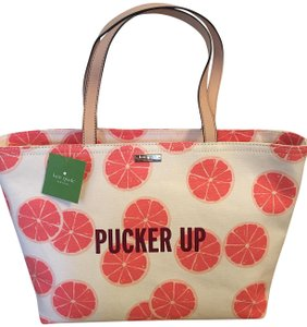 Kate Spade Tote in Multi Color Pink Grapefruit Accents