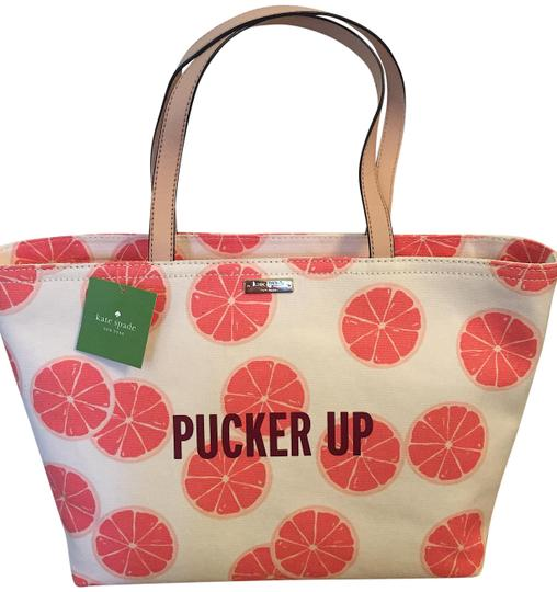 Preload https://img-static.tradesy.com/item/23927318/kate-spade-pucker-up-francis-multi-color-pink-grapefruit-accents-canvas-with-leather-trim-tote-0-1-540-540.jpg