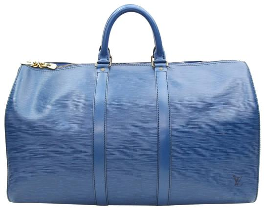 Preload https://img-static.tradesy.com/item/23927319/louis-vuitton-keepall-45-carry-on-luggage-blue-leather-weekendtravel-bag-0-1-540-540.jpg