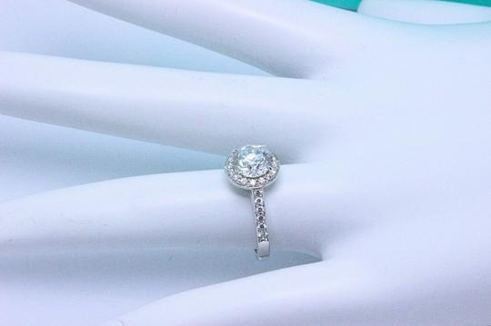 Tiffany & Co. G Diamond Round 1.51tcw Bead Set Platinum Engagement Ring