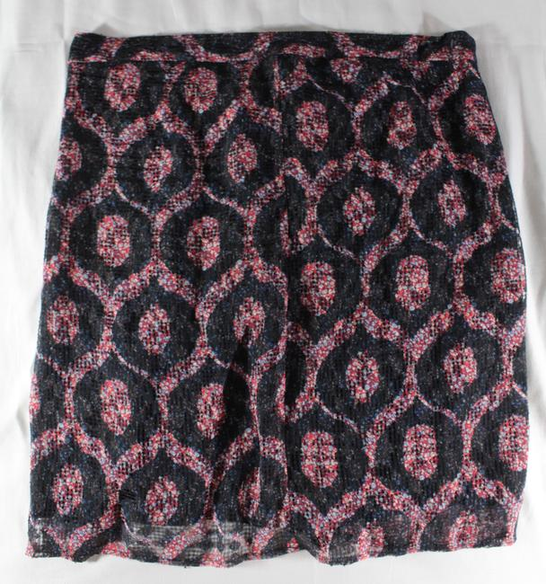 Isabel Marant Tie Waist Printed Draped Mini Skirt Red, Black