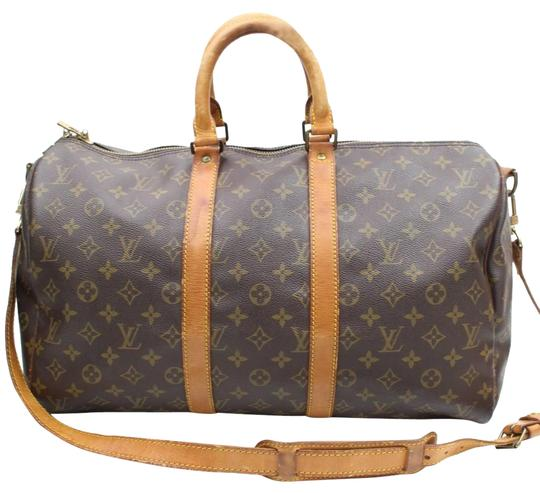 Preload https://img-static.tradesy.com/item/23927363/louis-vuitton-w-keepall-strap-45-bandouliere-45-carry-on-luggage-brown-mongoram-weekendtravel-bag-0-1-540-540.jpg