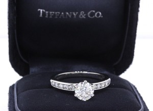 Tiffany & Co. H If Box Round Diamond 1.46 Tcw Diamond Band Papers Engagement Ring