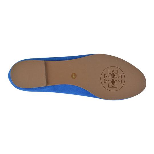 Tory Burch Mimi Suede Slippers Slip On Blue Evening Sky/ Bright Navy Flats