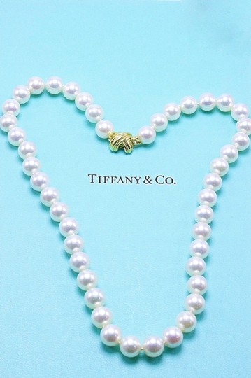 Tiffany & Co. Akoya Cultured Pearl Signature 18k Yellow Gold Appraisal Necklace Image 3