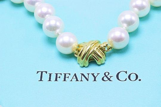 Tiffany & Co. Akoya Cultured Pearl Signature 18k Yellow Gold Appraisal Necklace Image 6