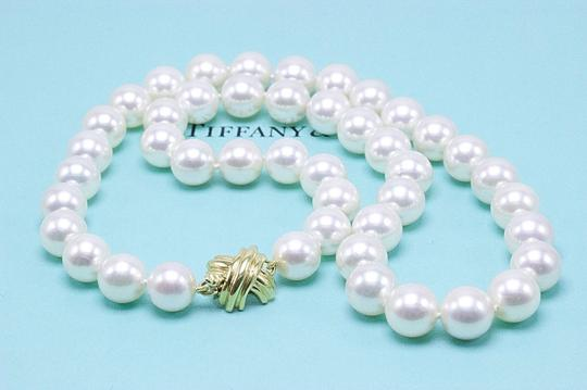 Tiffany & Co. Akoya Cultured Pearl Signature 18k Yellow Gold Appraisal Necklace Image 7