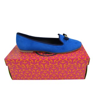 Tory Burch Mimi Slippers Blue Size 8.5 Evening Sky/ Bright Navy Flats
