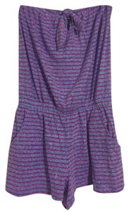 Express Shortalls Shorts Purple stripe