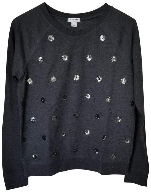 Preload https://img-static.tradesy.com/item/23927464/old-navy-charcoal-grey-polka-dot-sequined-long-sleeve-pullover-sweatshirthoodie-size-4-s-0-1-650-650.jpg