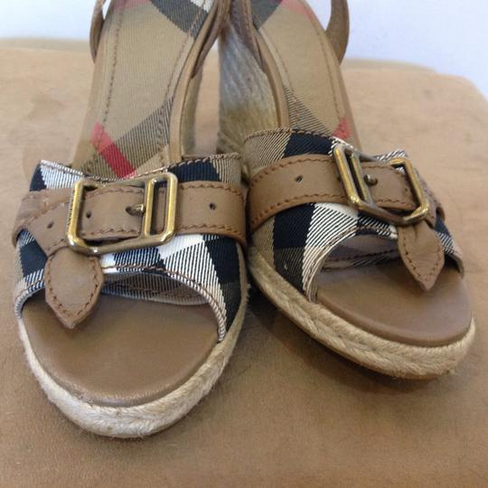 Burberry Burberry Check with Dark Stone leather Wedges