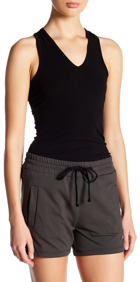 Top side Tank Cami Black Fitted James Ruched Perse gwqPRcO
