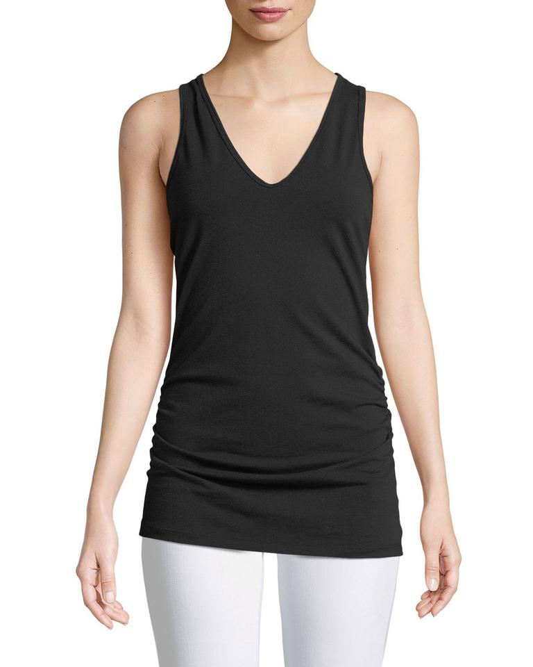 Cami Ruched James Tank Top side Perse Black Fitted E0wqxU7Sw