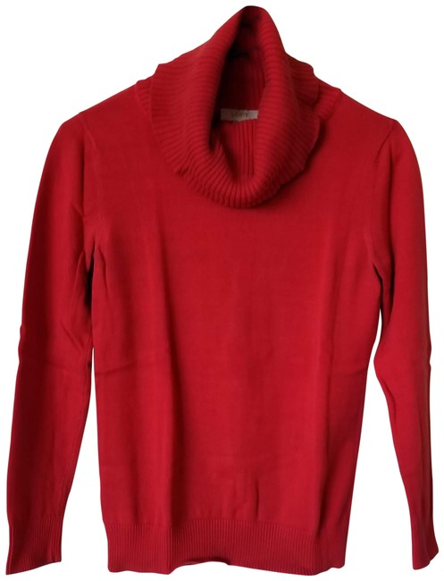 Preload https://img-static.tradesy.com/item/23927585/ann-taylor-loft-red-cowl-neck-long-sleeve-sweaterpullover-size-4-s-0-1-650-650.jpg