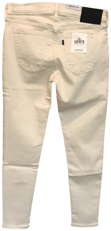 5c5705c601 Levi's Off White Light Wash Made & Crafted Empire Ankle Skinny Jeans ...