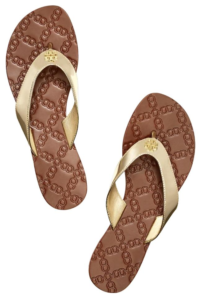 6961e8cd722 Tory Burch Metallic Gold New Flats Flip Flops Sandals Size US 7 ...