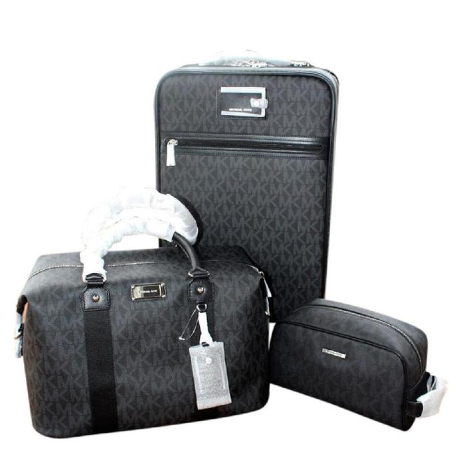 Item - New 3pc Suitcase Weekender/Pouch And Black Pvc Weekend/Travel Bag